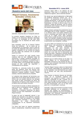 Newsletter 13 - Marzo 2010 - Cámara Chileno-Suiza de Comercio AG