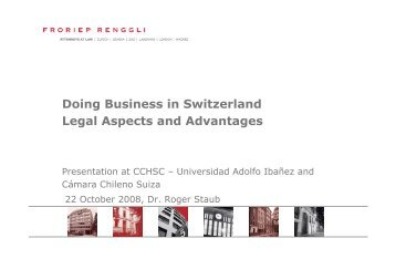 Doing Business in Switzerland Legal Aspects and Advantages