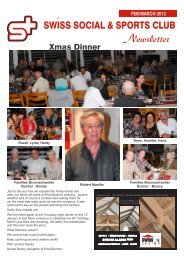 Newsletter February/March 2012 - Swiss Social & Sports Club