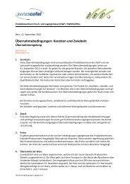 Übernahmebedingungen: Karotten und Zwiebeln - Swisscofel