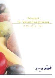 Protokoll 12. Generalversammlung - Swisscofel
