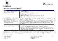 FAQ - Swisscom