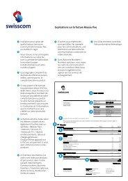 Explications sur la facture Réseau fixe - Swisscom