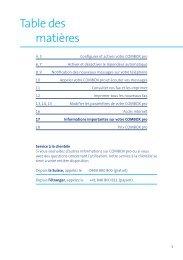 Table des matières - Swisscom