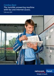 Combox Basic The invisible answering machine with fax ... - Swisscom