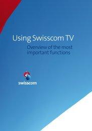 Using Swisscom TV