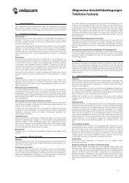 Allgemeine Geschäftsbedingungen Telefonie Festnetz - Swisscom