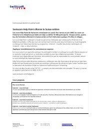 Communiqué destiné à la presse locale - Swisscom
