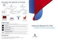 Extension Bluewin TV / DSL - Swisscom