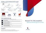 Bluewin TV / DSL erweitern - Swisscom