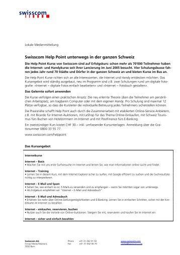 Swisscom Help Point unterwegs in der ganzen Schweiz