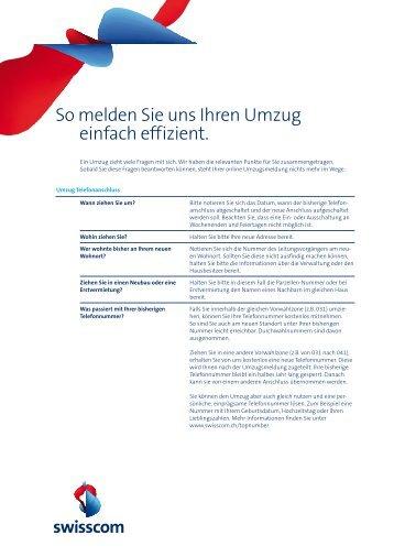 So melden Sie uns Ihren Umzug einfach effizient. - Swisscom