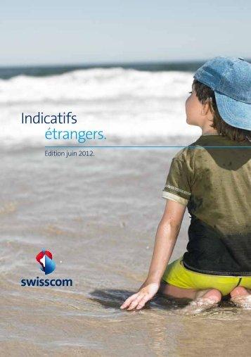 Indicatifs étrangers. - Swisscom