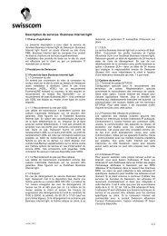 1/2 Description de services Business Internet light - Swisscom