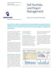 Factsheet SAP Portfolio und Project Management - Swisscom