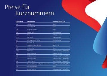 PDF: Prezzi per i numeri brevi - Swisscom