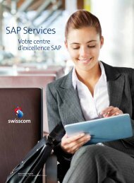 Presentation SAP Services (PDF, 1022.27 KB) - Swisscom