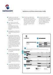 Facture Communication mobile Swisscom (Suisse)