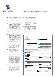 Erklärungen zur Rechnung Mobilkommunikation - Swisscom
