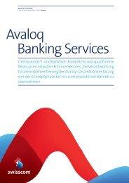 Factsheet Avaloq Banking Services (PDF, 618.66 KB) - Swisscom