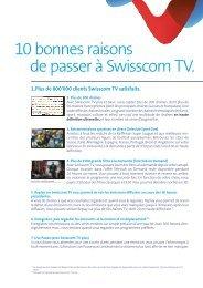 10 bonnes raisons de passer à Swisscom TV.