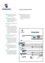 Key to your mobile services bill - Swisscom
