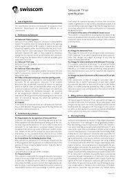 Swisscom TV air specification