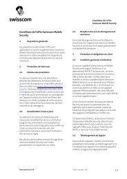 Conditions de l'offre Swisscom Mobile Security