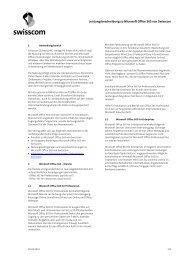 und Lizenzbestimmungen - Swisscom