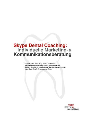 Skype Dental Coaching - Swiss Dental Marketing