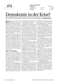 Demokratie in der Krise - Swiss Finance Institute