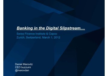 Banking in the Digital Slipstream.... - Swiss Finance Institute