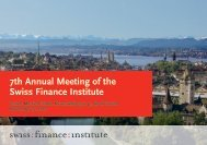 7th Annual Meeting of the Swiss Finance Institute
