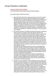 Sentiment and Risk in Financial Markets Prof. Giovanni Barone ...