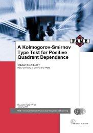 Type Test for Positive Quadrant Dependence A Kolmogorov-Smirnov