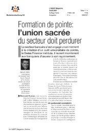 Formation de pointe - Swiss Finance Institute