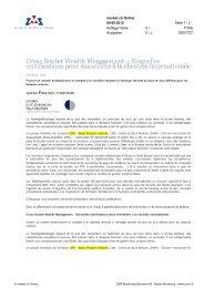 Cross Border Wealth Management - Swiss Finance Institute