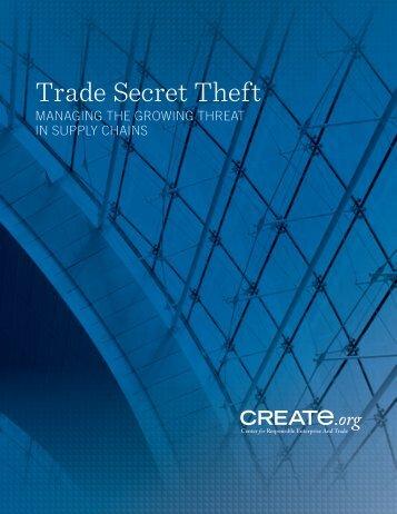 Trade Secret Theft - CREATe.org
