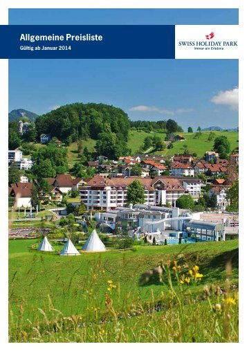 Allgemeine Preisliste - Swiss Holiday Park