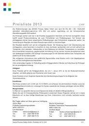 Preise 2013 - Swissi