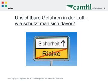 Unsichtbare Gefahren in der Luft - wie schützt man sich ... - Swissi