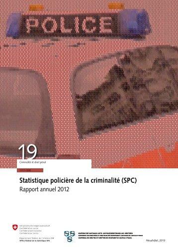 Statistique policière de la criminalité (SPC) - SwissInfo