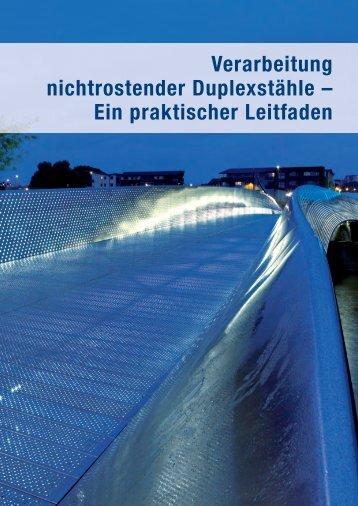 Verarbeitung nichtrostender Duplexstähle - Informationsstelle ...