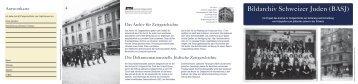 Zum Flyer - Schweizerischer Israelitischer Gemeindebund