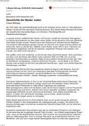 Geschichte der Basler Juden