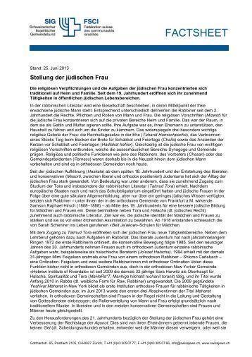 Stellung der jüdischen Frau (PDF 116KB)