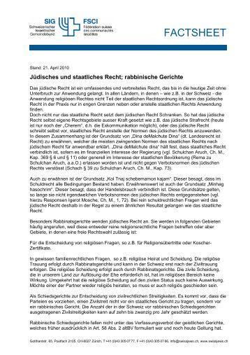 Jüdisches und staatliches Recht; rabbinische Gerichte (PDF 56KB)