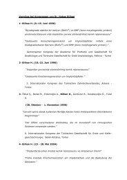 Vorträge bei Kongressen von Dr. Hakan Bilhan 1 ... - Swisslasik