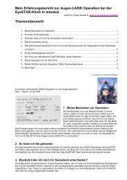 Mein Erfahrungsbericht zur Augen-LASIK Operation bei ... - Swisslasik