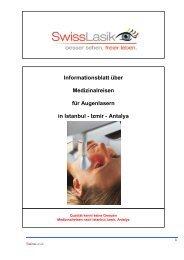 Augenlaserbehandlungen - Swisslasik